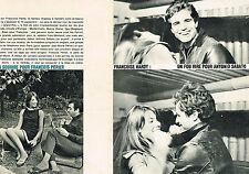 "PUBLICITE ADVERTISING 074  1966  FRANCOISE HARDY "" fou rire ANTONIO SABATO (2p"