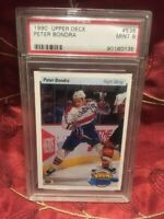 1990-91 Upper Deck Young Guns PETER BONDRA Rookie RC #536 Mint PSA 9