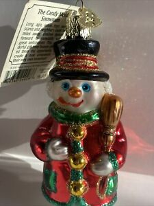 Old World Christmas THE CANDY MOLD SNOWMAN ⛄️ Ornament 2001