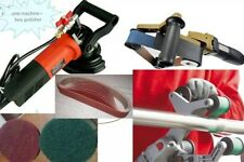 Pipe Tube Polisher metal rust concrete grinder 70 aluminum oxide belt 10 disc