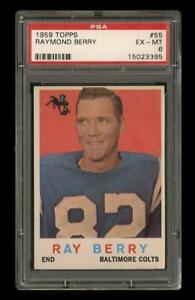 1959 Topps Set Break # 55 Raymond Berry PSA 6 EX-MT