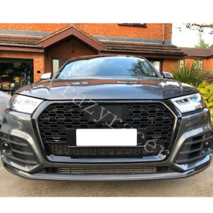 Q5 Black Front Mesh Grille Grill for Audi Q5 SQ5 2016-2019 To RSQ5 Style