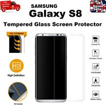 3D Curved Responsive Full CLEAR Tempered Glass Screen Protector For Galaxy S8