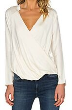 NEW JAMES PERSE long sleeve wrap Raglan top Blouse Sz 4 (XL) $225 Cream Bloomies