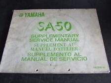 Yamaha SA50 SA 50 1982 1983 Workshop Service Manual Supplement