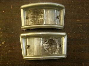 NOS GB 1961 1967 Ford Econoline Park Light Lenses Van Pickup 1963 1964 1965 1966