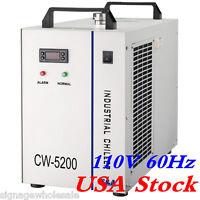 US CW-5200DH Industrial Water Chiller for 8KW Spindle / Welder / Laser Tube 110V
