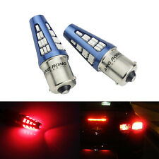 2 Stk Rot 382 P21W 1156 BA15s 48 SMD LED Seiten Indikator Bremsleuchte Glühbirne