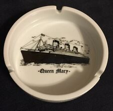 Vintage Queen Mary  Ashtray  Ship Boats Porcelain Approx 4""
