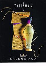 PUBLICITE ADVERTISING 024   1994   BALENCIAGA  parfum TALISMAN