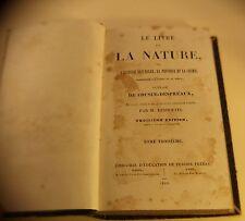 Le livre de la Nature l'histoire naturelle de Cousin-Despréaux 1844 Tome 3