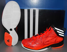 MENS ADIDAS CRAZY FAST in colors INFRA RED / RUNNING WHITE / BLACK SIZE 11.5