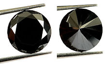 2.50 ct Carbon Black Natural Diamond - Excellent Brilliant cut - Opaque - COA