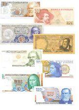 ITALIA Bozzetti 50,100 Lire, 100ECU vari,1000verdi e 5000 tiziano(Riproduz/copy)