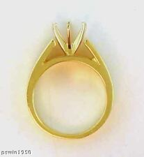 1.25CT Solitaire Ring Mounting 5MM Wide 14K Yellow Gold