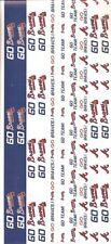 ATLANTA BRAVES MLB Baseball Scrapbook Border Stickers