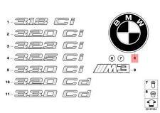 Genuine BMW E46 Cabrio Emblem Roundel Trunk OEM 51137019946
