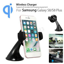 Qi Wireless Car Charger Windshield Dashboard Phone Holder Charging Dock
