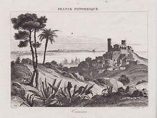 GRAVURE DE 1835  --  CANNES ( DANS LE VAR A L EOPQUE )   3J443