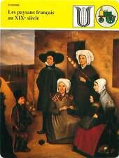FICHE CARD Les Paysans Français au XIXe Famille du Berry Agriculteur France 90s