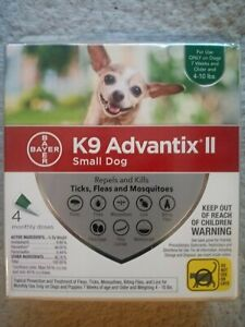 K9 Advantix II For Small Dogs Under 10 lb - 4 Pack - Green - Fast  FREE Shipping