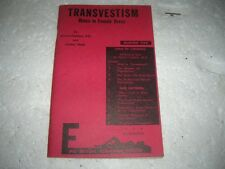 1962  TRANVESTISM BOOK MALES IN FEMALE DRESS -RARE~ FIRST EDITION
