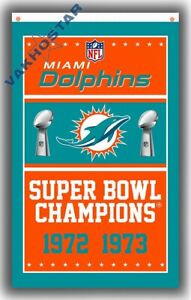 Miami Dolphins Champion Football team Memorable flag 90x150cm 3x5ft Best banner