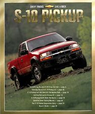 2001 CHEVROLET S-10 PICKUP XTREME ZR2 SALES BROCHURE