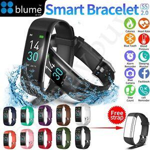 Bluetooth Smart Bracelet Waterproof Heart Rate Monitor Fitness Tracker Watch AU