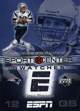 TOM BRADY ( BLUE ) 2005 ESPN UPPER DECK SPORTSCENTER SWATCHES JERSEY PATRIOTS QB