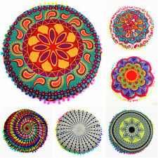 Indian Mandala Floor Pillows Round Bohemian Sofa Car Cushions Pillows Cover Case