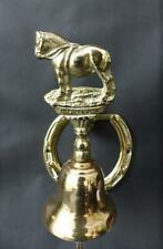 Vintage Brass Equestrian  Door Bell - Horse Shoe - Suffolk Punch & Bell