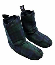 Microwaveable Heat Up Slipper Socks Wheat Bag Winter Feet Warmer Tartan Boots