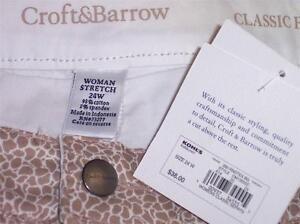 NWT Croft & Barrow Classic Fit Stretch Skort Plus Size 16W 18W 20W 22W 24W Beige