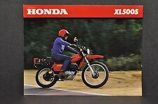 Vintage 1980 Honda XL500 S Brochure Specifications
