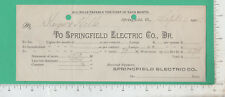 A316 Springfield Electric Co bill Keyes & Hills, Springfield, Vermont