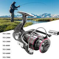 Spinning Fishing Reels High Speed Heavy Action Metal Spool Saltwater Freshwater