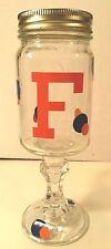FSU FL Gators Fan Hillbilly Redneck Beer Shine Wine Glass Mason Jar GLASS Candy