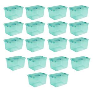 Sterilite 64 Quart Fresh Scent Stackable Plastic Storage Box Container (18 Pack)