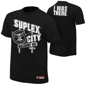 """Official WWE - Brock Lesnar """"Suplex City Welcomes You"""" Authentic T-Shirt"""
