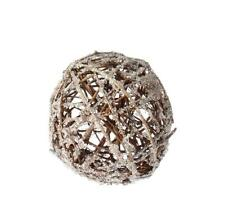 "NEW RAZ 5"" Iced Twig Ball Christmas Tree Ornament 3602381"