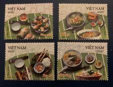 Vietnam 2020 Stamp Vietnamese Cuisine Food Set Of 4 Dishes Bun Cha Sea Mnh