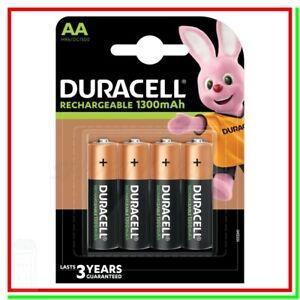 4 Pile Batterie DURACELL Ricaricabili AA STILO VALUE Plus HR6 DC1500 NiMH