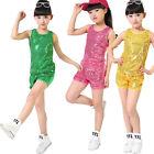 Sequined Hip Hop Dance wear for Girls Children's Jazz Modern Dance Costume
