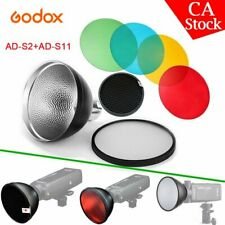 Us Godox Ad-S2 Standard Reflector + Ad-S11 Color Filter for Ad200 Ad360 Ad36Ii