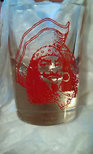 Set of 6 Vintage CAPTAIN MORGAN Red Silhouette COLLECTIBLE Shot Glass by CASA