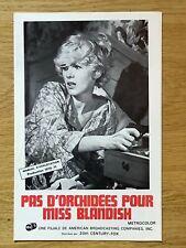 Dossier de presse»PAS D'ORCHIDÉES POUR MISS BLANDISH»1971-Robert ALDRICH-DARBY