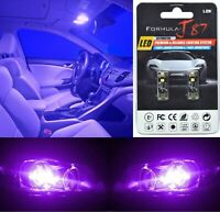 Canbus Error LED Light 168 Purple 12000K Two Bulbs License Plate Tag Upgrade Fit