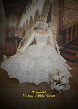 """CAROLINE"" -  MINIATURE WEDDING GOWN"