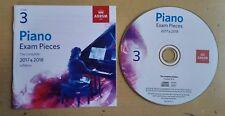 ABRSM Piano Exam Pieces: 2017-2018 Grade 3 * CD Only *